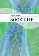Modern trendy book or brochure template with diagonal strips in green and blu - stock illustration