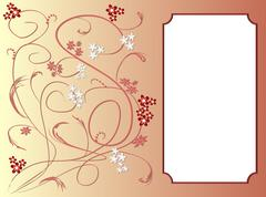 Invitation card template with art deco floral patterns Stock Illustration