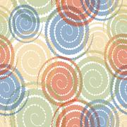 Modern abstract background with pastel colored overlapping twirl Stock Illustration