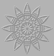 Silver relief decorative motif - stock illustration