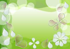 Spring green vector background with morphing dotted drops - stock illustration