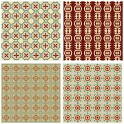 Set of background tiles in art deco style with simple geometric patterns in b - stock illustration