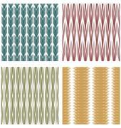 Set of decorative tiles with strip ornamental patterns Stock Illustration