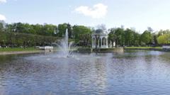 Kadriorg Lake in Tallinn 2 Stock Footage