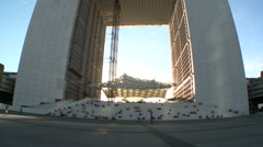 La Grande Arche de la Defense 2 Stock Footage