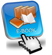 E-Book Button with Cursor - stock photo