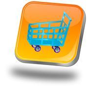 Shopping Button - stock photo