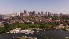 Boston Aerial - stock footage