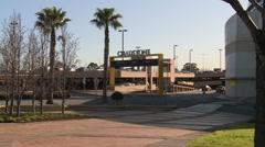 Shopping Centre Sign front facade Stock Footage