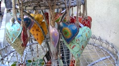 Provencal heart motif decorations, Provence, France Stock Footage