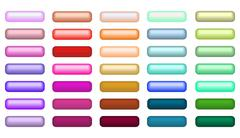 Mega set of web empty buttons in different colors Stock Illustration