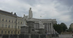 The Famous Monument to Princess Olga, Apostle Andrew, Kyril and Mephodiy on Stock Footage