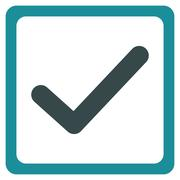 Checkbox icon from Business Bicolor Set Stock Illustration