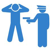Stock Illustration of Arrest icon from Business Bicolor Set