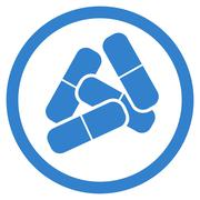 Drugs icon from Business Bicolor Set Stock Illustration