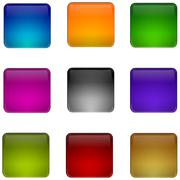 Internet web button set - stock photo
