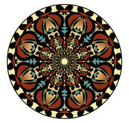 Mandala in nostalgic colors for the acquisition of calm and equanimity. A sym Stock Illustration