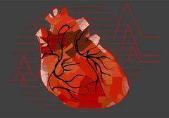 abstract human heart - stock illustration