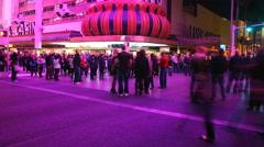 Freemont Street Las Vegas 4k 001 Stock Footage
