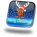Reindeer wishing Merry Christmas Button Stock Photos