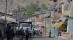 Main bazaar street,Kargil,Ladakh,India Stock Footage