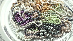 Mixed pearl jewelry 4k Stock Footage