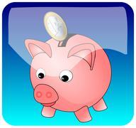 Piggy bank App Stock Photos