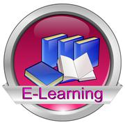 E-Learning Button Stock Photos