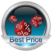 Button Best Price - stock photo