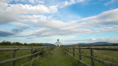 Country Church time lapse Stock Footage