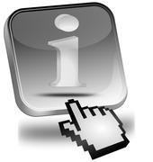 Information Button with cursor Stock Photos