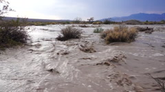 Flash Flood Waters in the Desert Stock Footage