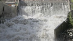 Falling water at small dam,Kargil,Ladakh,India Stock Footage