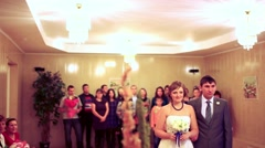 Wedding ceremony in a registry office. marriage Stock Footage