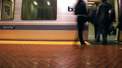 San Francisco BART 4K 008 Stock Footage