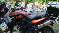 Motorcycles Stock Footage