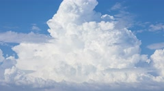 Beautiful magical white cloud, time lapse - stock footage