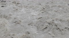 Fast flowing Suru river closeup,Kargil,Ladakh,India Stock Footage