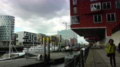 Stock Video Footage of ULTRA HD 4K real time shot, HafenCity in Hamburg