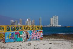 Murals on the Beach Stock Photos