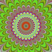 Fullscreen generated symmetrical flower Stock Illustration