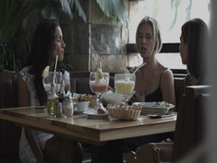 Friends having lunch Stock Footage