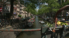 Bloemgracht Bridge in Amsterdam 1 Stock Footage