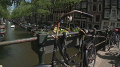 Bloemgracht Bridge in Amsterdam 2 Stock Footage