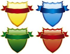 Shields badge - stock illustration