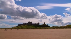 Bamburgh Castle Timelapse Stock Footage