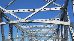 Driving under superstructure of cantilever bridge Baton Rouge LA Stock Footage