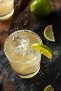 Homemade Classic Margarita Drink Stock Photos