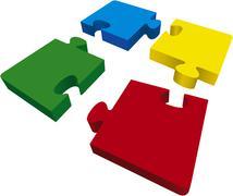 Four puzzles Stock Illustration