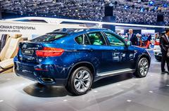 MOSCOW, RUSSIA - AUG 2012: BMW X6 E71 presented as world premier Stock Photos